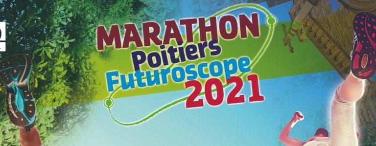 Marathon Poitiers Futuroscope 2021 Chasseneuil-du-Poitou Jaunay-Marigny Office de Tourisme Grand Poitiers VisitPoitiers